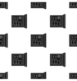 Mini-bar icon in black style isolated on white vector image