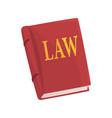 red law book cartoon vector image