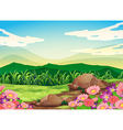 A beautiful scenery vector image
