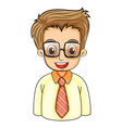 A handsome young man with an eyeglass vector image vector image