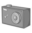 Action camera icon black monochrome style vector image vector image