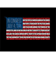 american flag - forth july declaration of vector image vector image