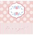 Baby girl shower card with seamless polka dots vector image