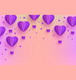 background template papercut air balloon vector image