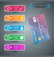 bank card icon business infographic vector image vector image