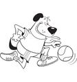 Basketball Dog vector image vector image