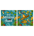 best mexican food handwriting lettering and vector image vector image