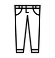 blue jeans vector image vector image