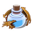 blue liquid in vial is guarded a dragon vector image