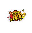 boom bang colorful superhero symbol isolated icon vector image