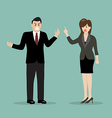 business people having a quarrel vector image vector image