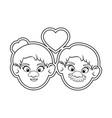 cartoon grandparents design vector image