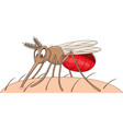 cartoon mosquito sucking blood vector image vector image