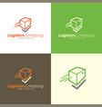 check mark logistics logo and icon vector image