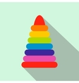 Children colorful pyramid flat icon vector image