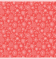 christmas seamless pattern with snowflakes hand vector image