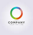 colorful logo template for your business and vector image