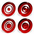 concentric circles bullseye cross-hair reticle vector image