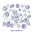 cosmic set graphic collection planet rocket vector image