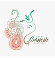 creative ganesha ji design for happy ganesh vector image vector image