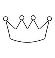 crown luxury royal monarchy icon vector image