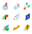 decision icons set isometric style vector image vector image