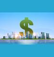 dollar sign money business finance rich success vector image