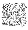 doodle arrow collection sketch vector image vector image