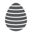 easter egg glyph icon easter and decoration vector image vector image