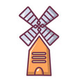 farm windmill icon cartoon style vector image vector image