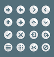 flat style various navigation menu buttons icons vector image
