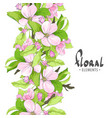fragrant flowers of apple on a white background vector image vector image
