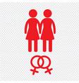 gender icon people icon design vector image