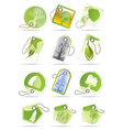 green and leaf labels vector image vector image