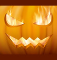 halloween pumpkin with scary face vector image vector image