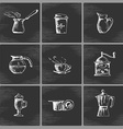 Hand drawn coffee icon set vector image vector image