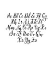 hand-drawn simple thin lettering alphabet vector image vector image