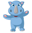 happy baby rhino cartoon posing vector image vector image