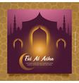 happy eid al adha greeting social media post vector image