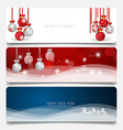 Holiday gift coupons with Christmas tree and vector image vector image