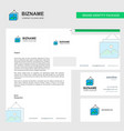 image frame business letterhead envelope and vector image
