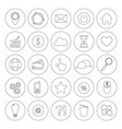 internet line symbols for web site design isolated vector image vector image