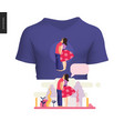 kissing scene composition t-shirt design vector image