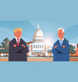 man american republican and newly elected vector image