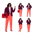 modern afro american businesswoman vector image vector image