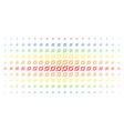 node link spectral halftone pattern vector image vector image
