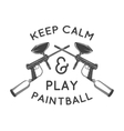 Paintball logo template Paintballing poster vector image