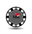 poker chip Christmas new year Cap Santa Claus red vector image vector image