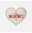 Realistic Valentines Day greeting Heart Label vector image vector image