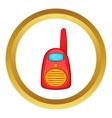 Red portable handheld radio icon vector image vector image